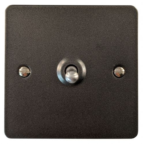 G&H FP285 Flat Plate Pewter 1 Gang Intermediate Toggle Light Switch